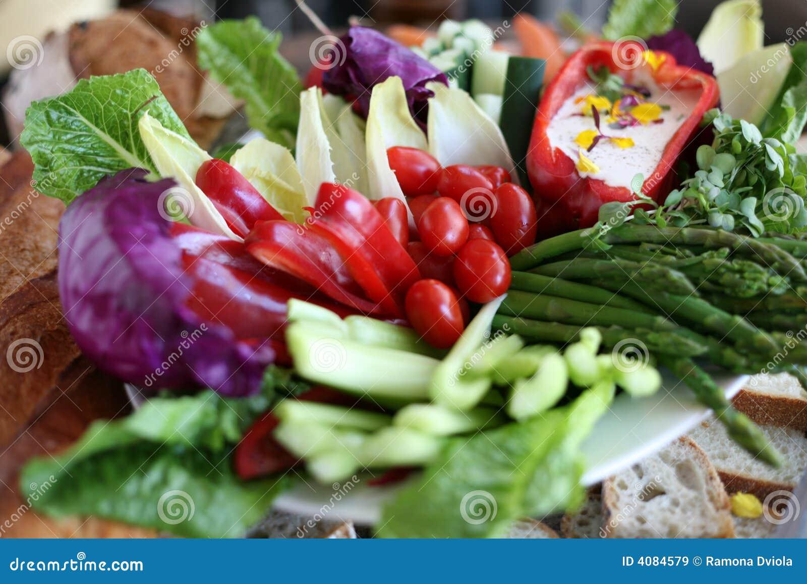 Fresh vegetable crudite platter
