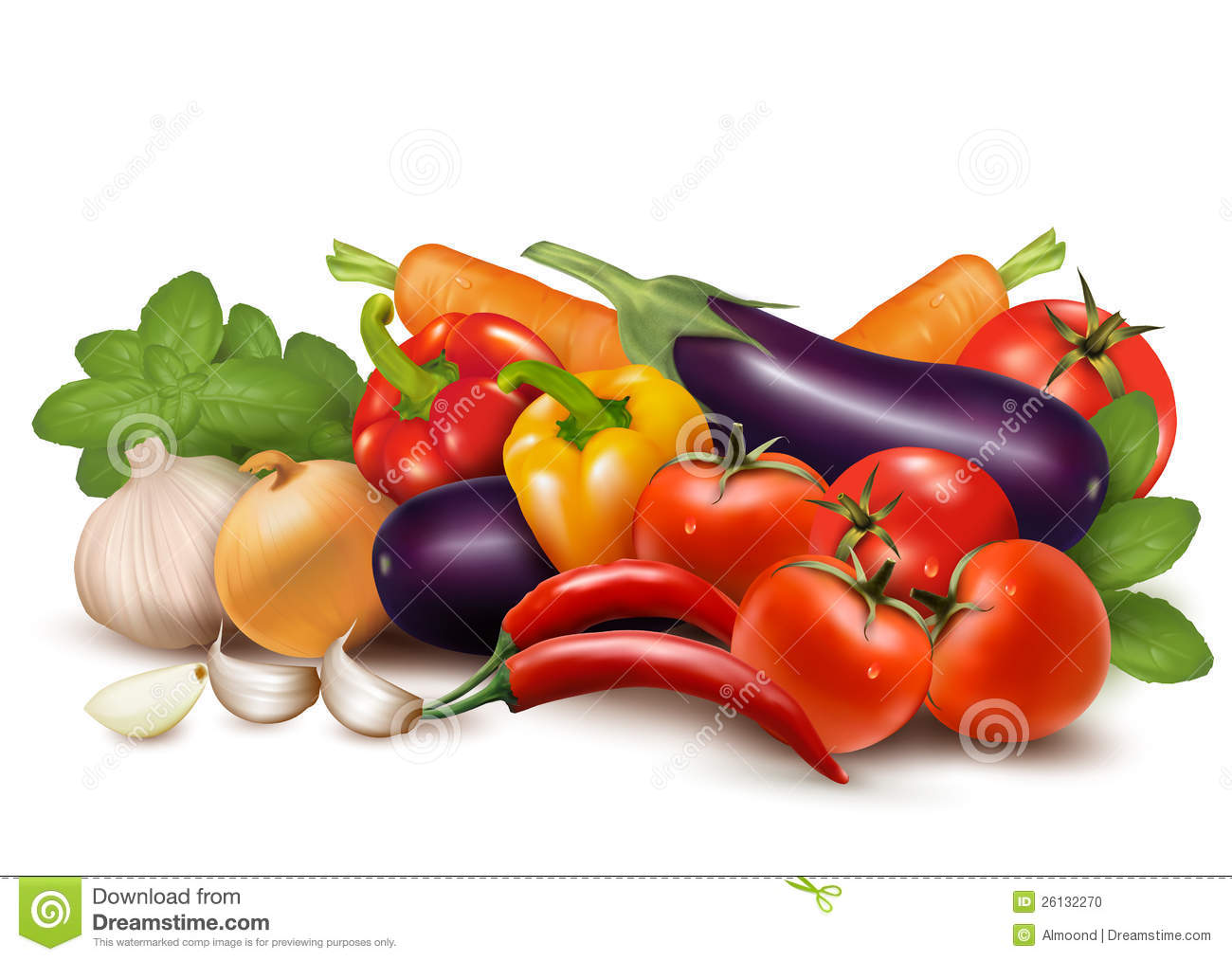 Fresh vegetable with leaves Healthy Eating