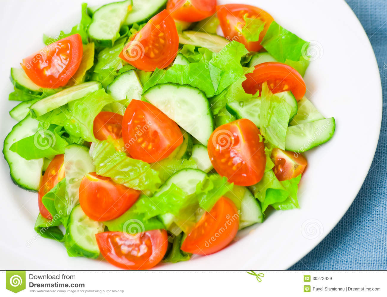 Fresh Vegetable Salad On Plate Royalty Free Stock Images