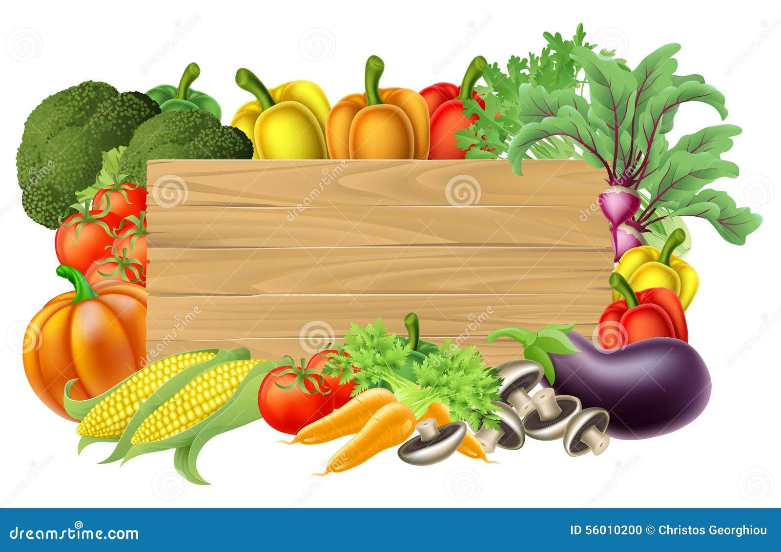 Fresh Vegetable Sign Stock Vector Illustration Of Carrots
