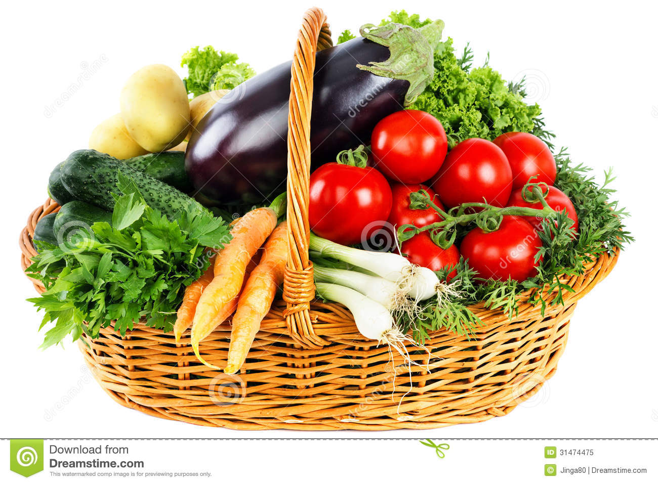 Fresh Vegetables In Basket Royalty Free Stock Photo - Image: 31474475