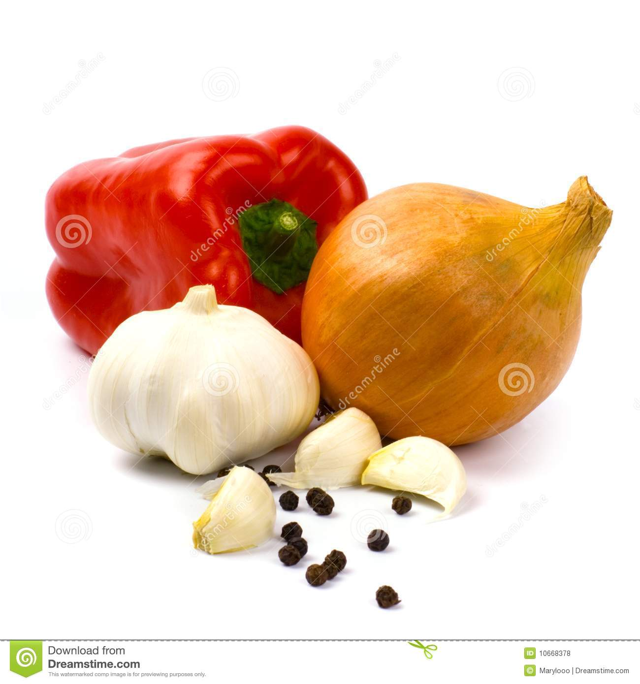 Fresh Vegetables And Black Pepper Royalty Free Stock