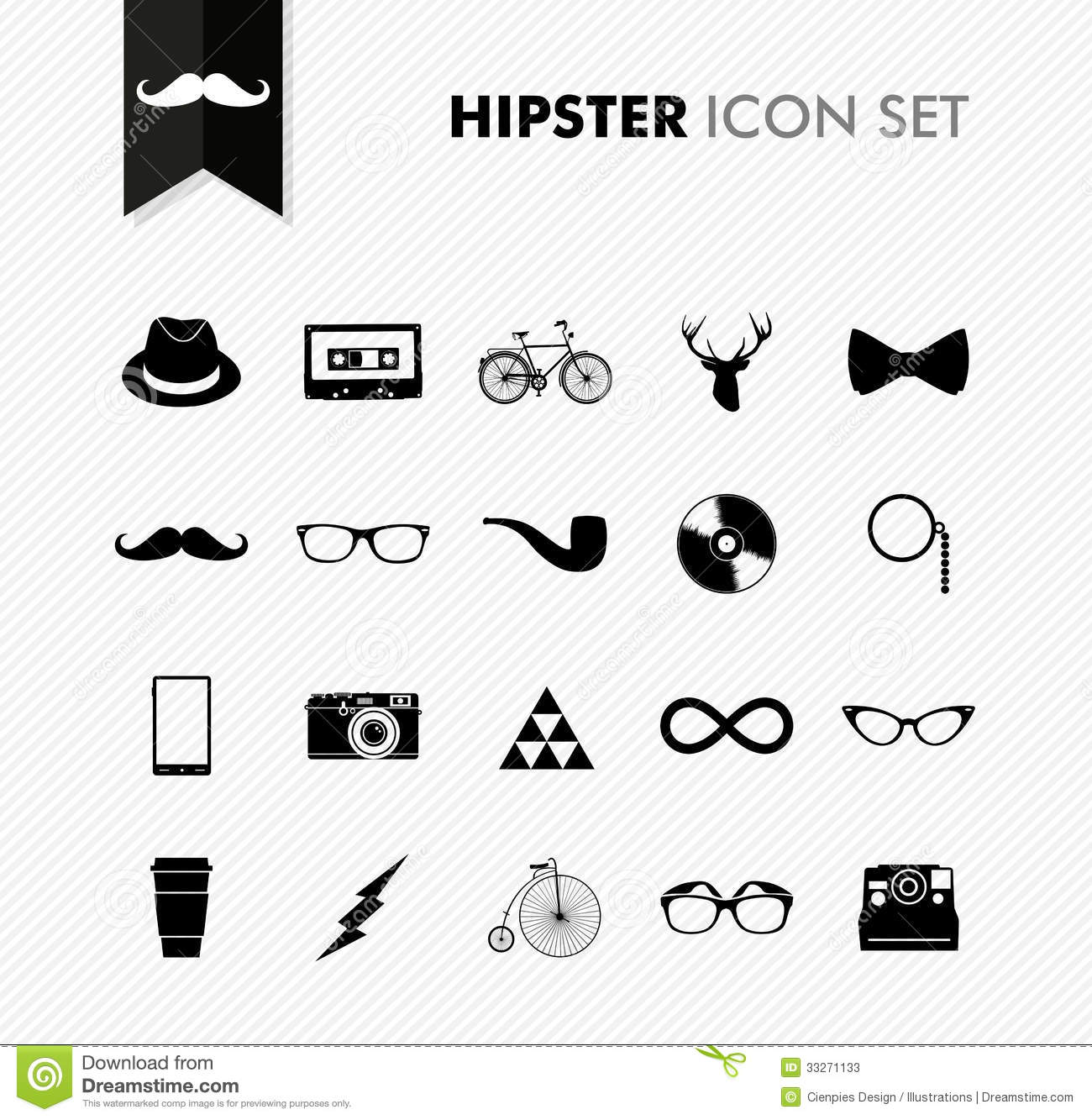 Fresh Vintage Hipster Icon Set Hipster Icons Vintage Hipster Icon Set