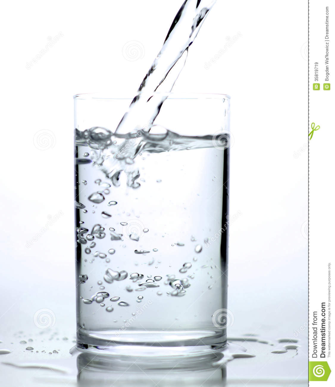 Fresh Water Pouring Into The Glass Stock Image