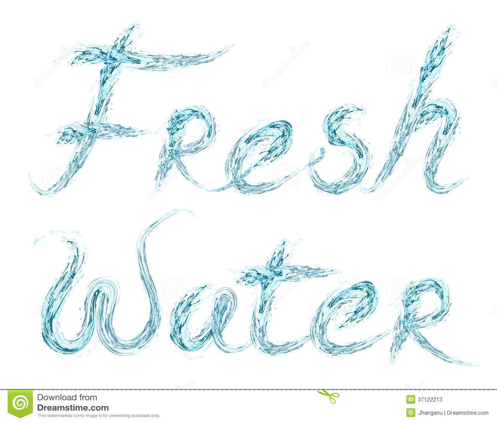 Fresh Water word on white