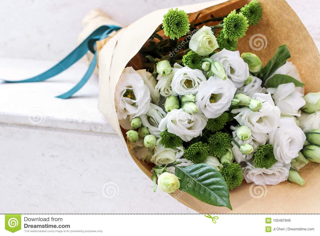 White flowers wrapped in paper stock photo image of white wedding white flowers wrapped in paper mightylinksfo