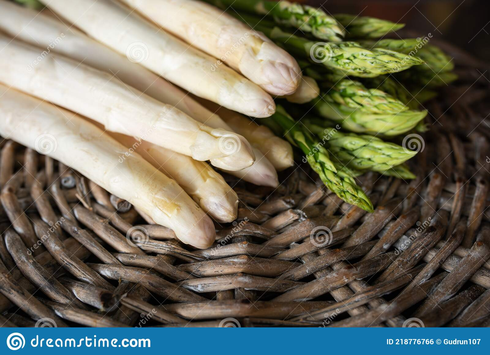 Fresh White And Green Asparagus Stock Photo   Image of recipe ...