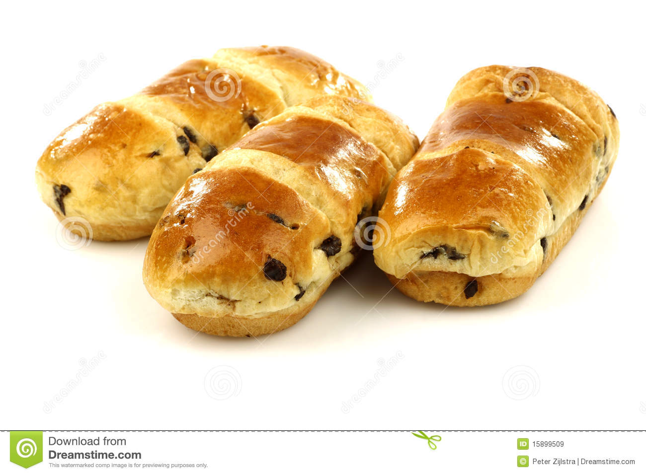 Freshly Baked Chocolate Chip Sweet Rolls Royalty Free ...