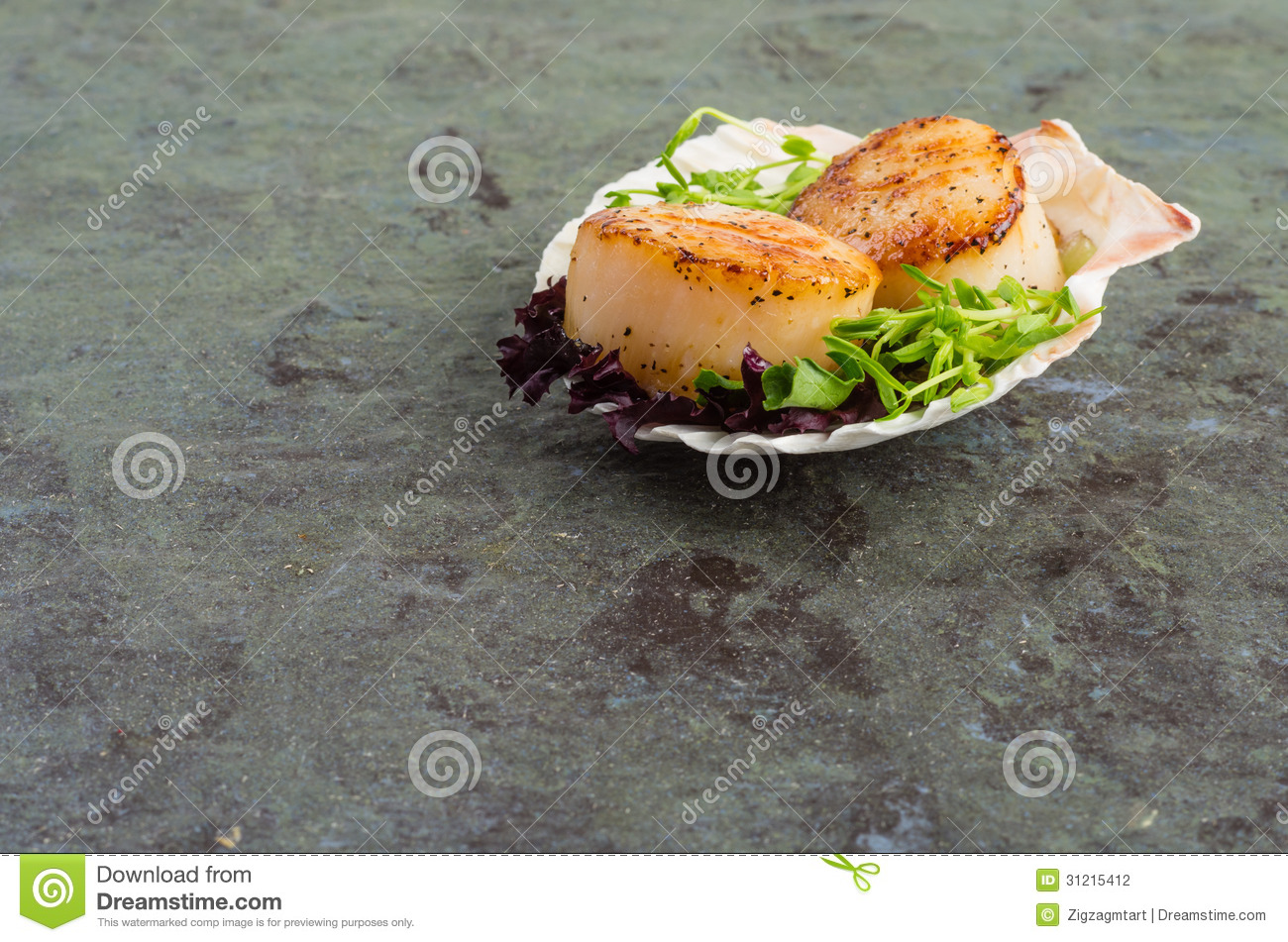 how to prepare scallops in shell