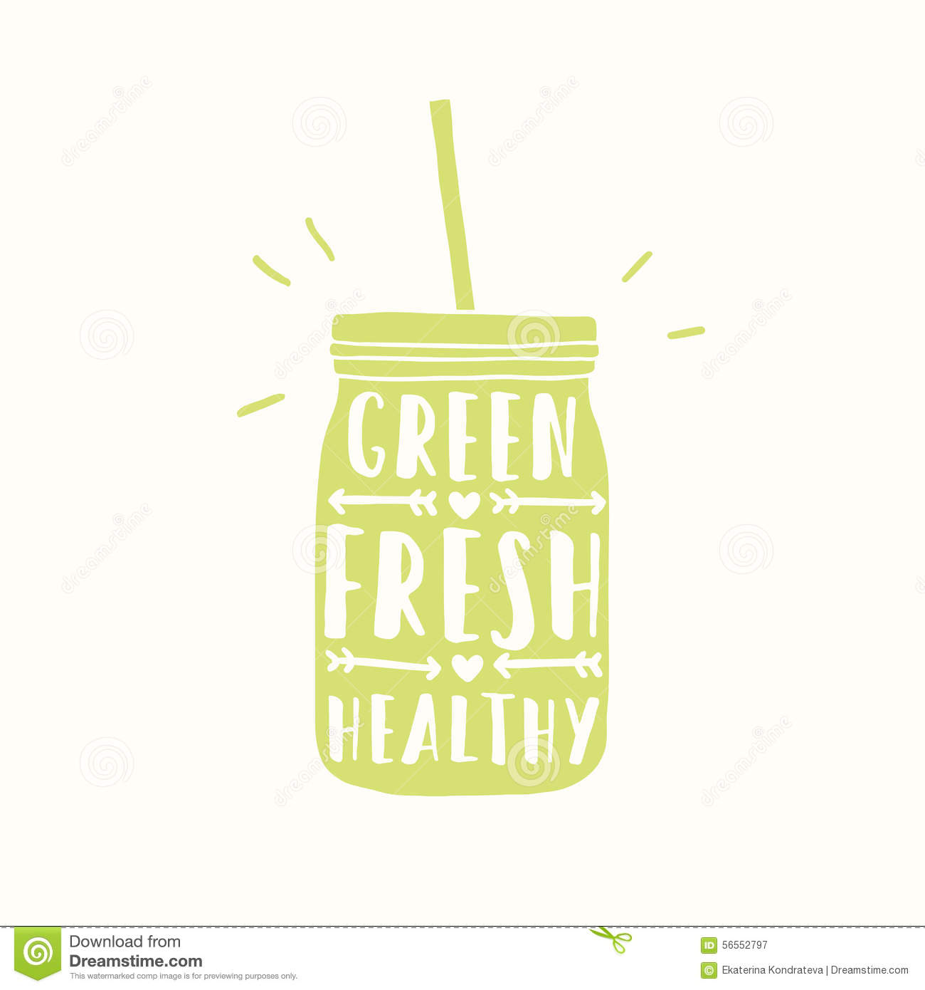 Freshly Made With Real Fruits. Juice Or Smoothie Stock Vector - Image ...