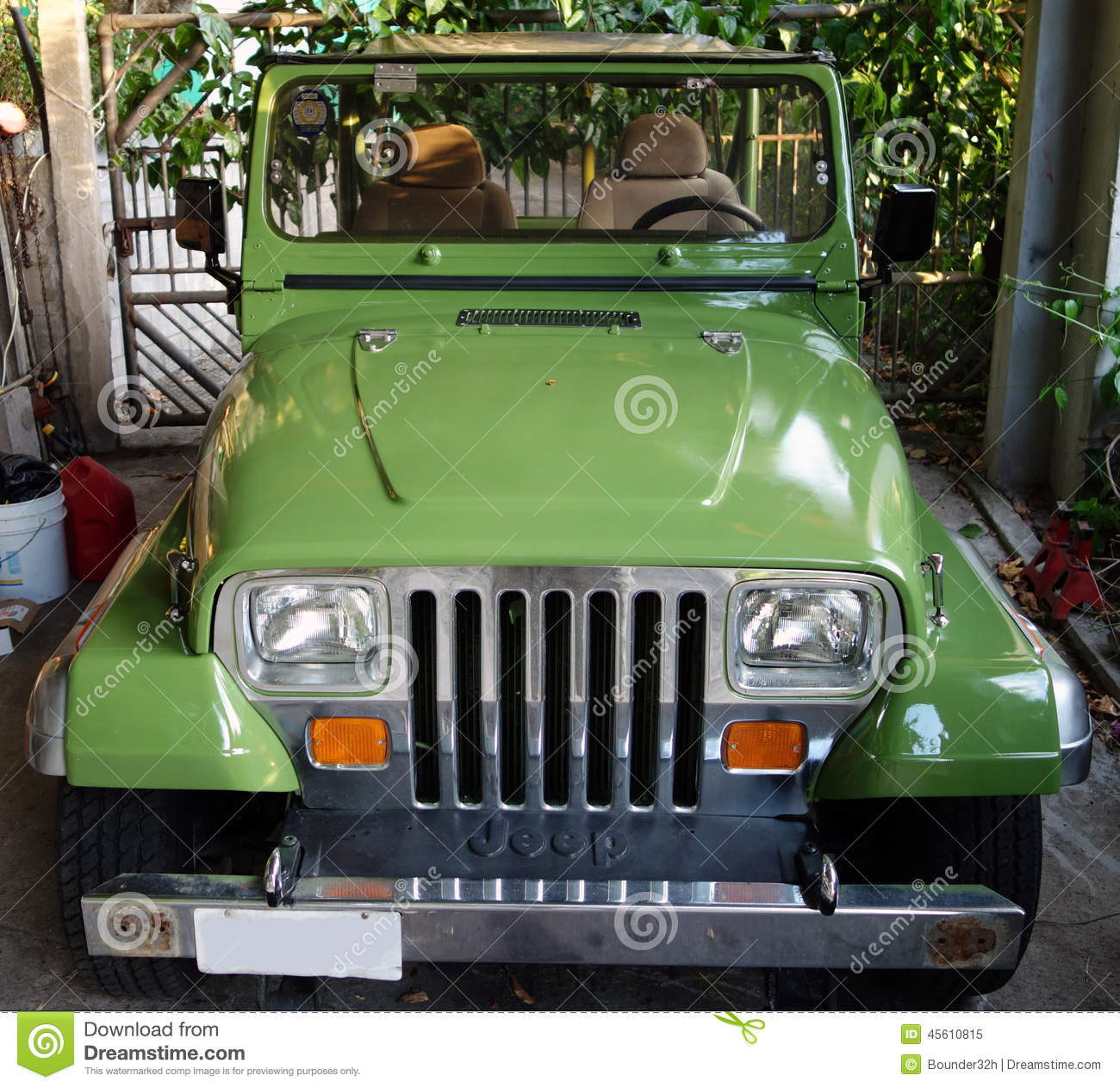 A freshly painted jeep in the caribbean Editorial Image. A Freshly Painted Jeep In The Caribbean Editorial Image   Image