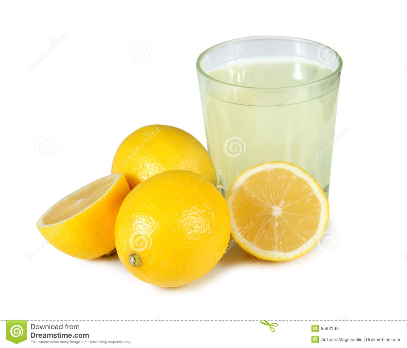 Freshly Squeezed Glass Of Lemon Juice. Royalty Free Stock Images ...