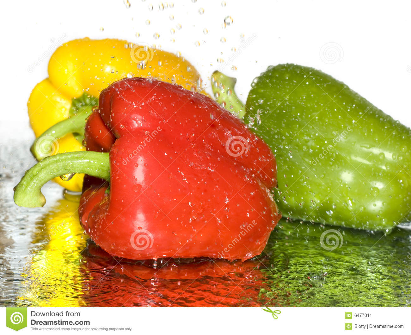 Freshness paprika over white