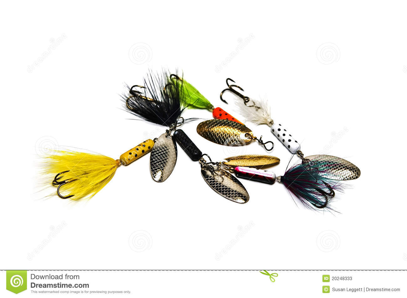 Freshwater fishing lures stock photos image 20248333 for Freshwater fishing lures