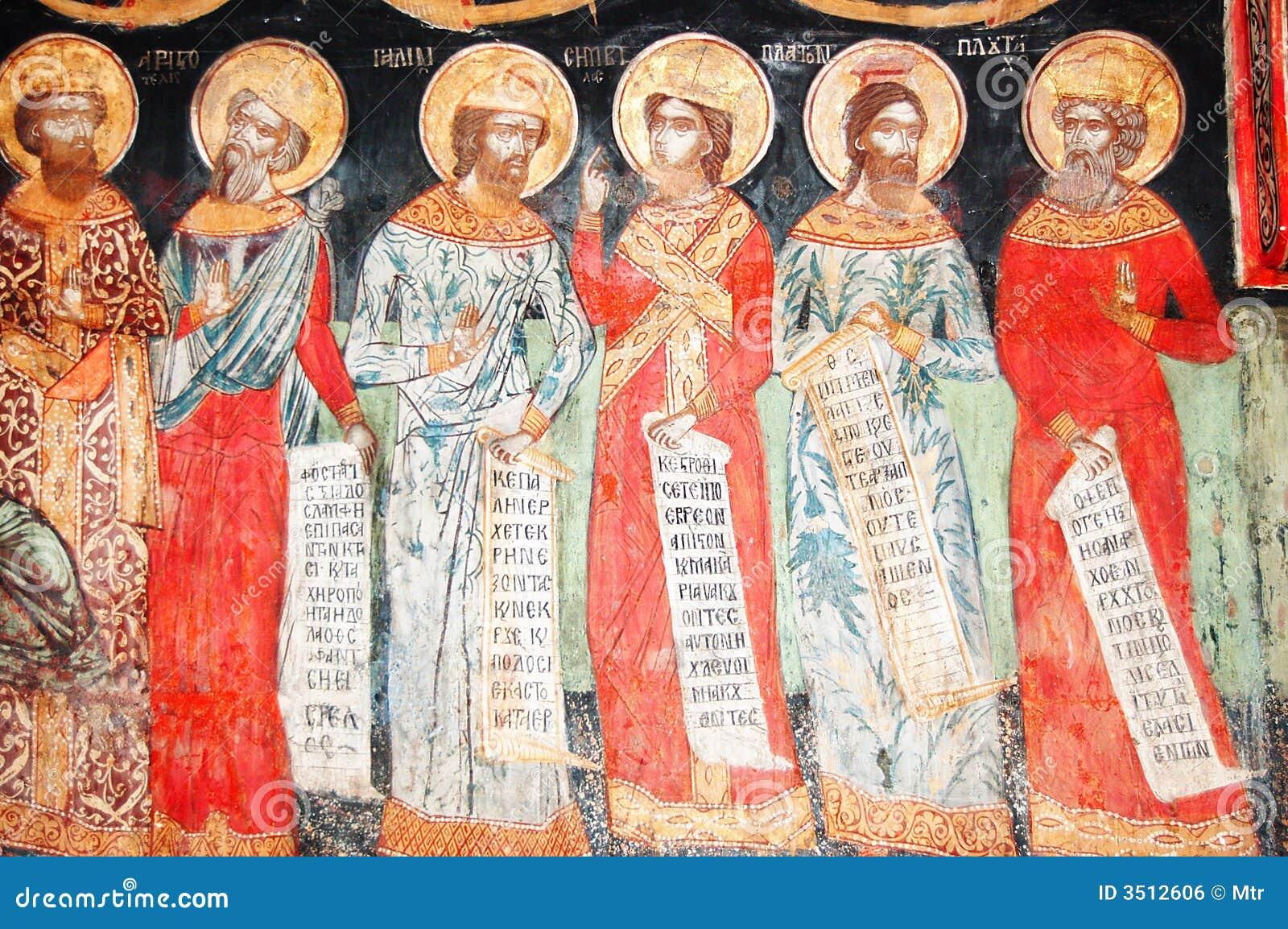 Fresko in Bulgaars klooster