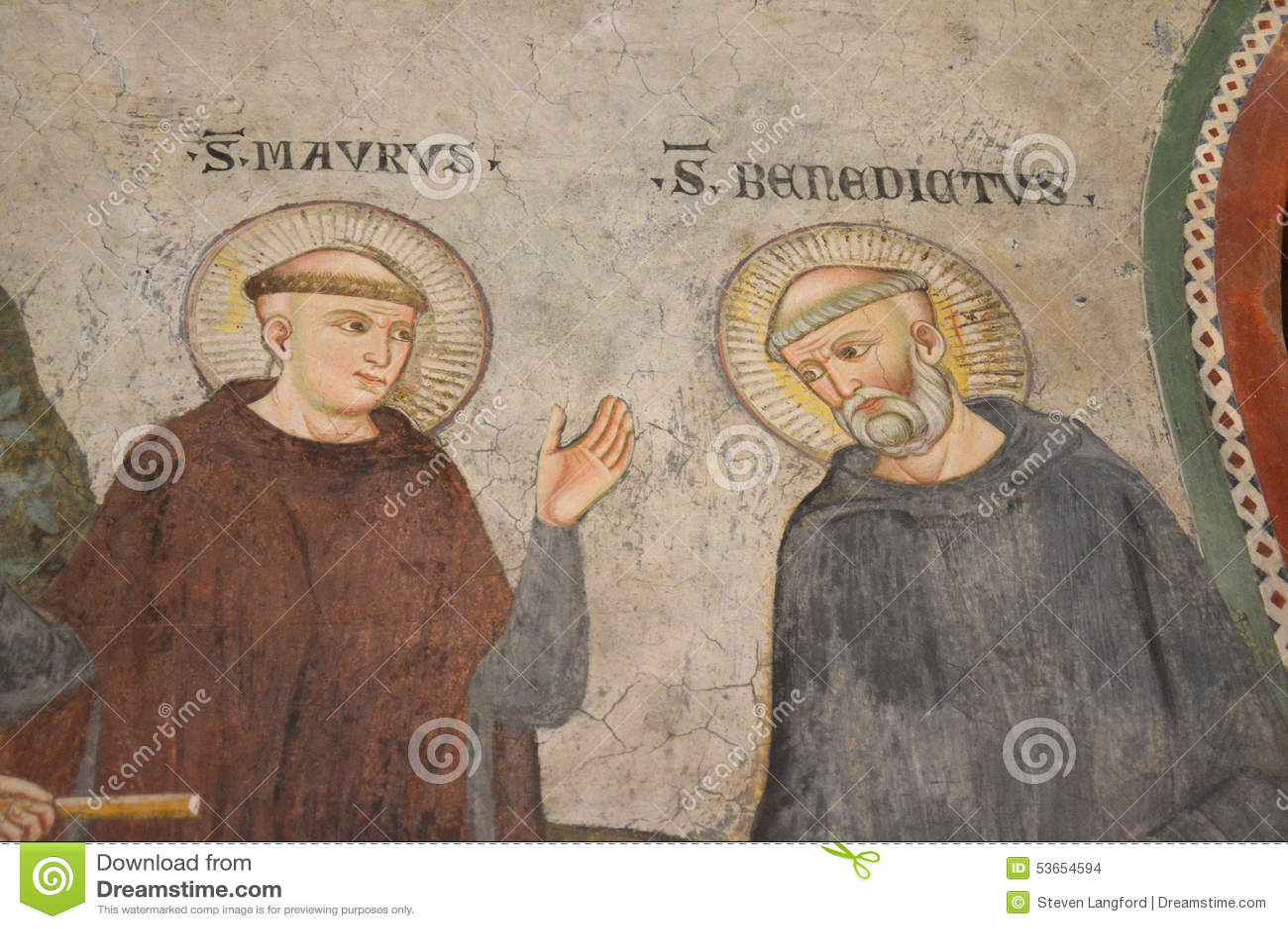 Fresko van Heilige Benedict