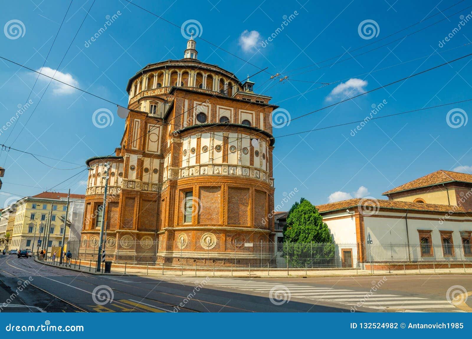 Freskomålning för sista kvällsmål för Santa Maria delleGrazie kyrka, Milan, Italien