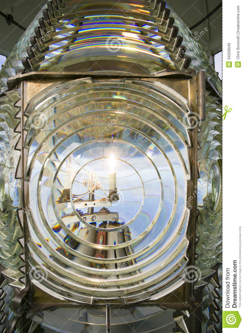 Fresnel Magnifying Lens Close Up Lighthouse Glass Rotating ...