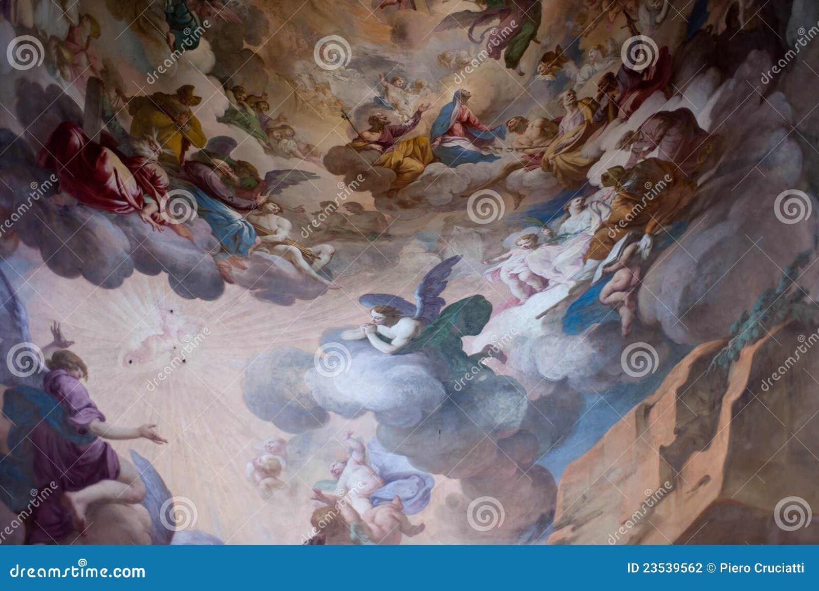 Fresque dans Sacro Monte, l UNESCO