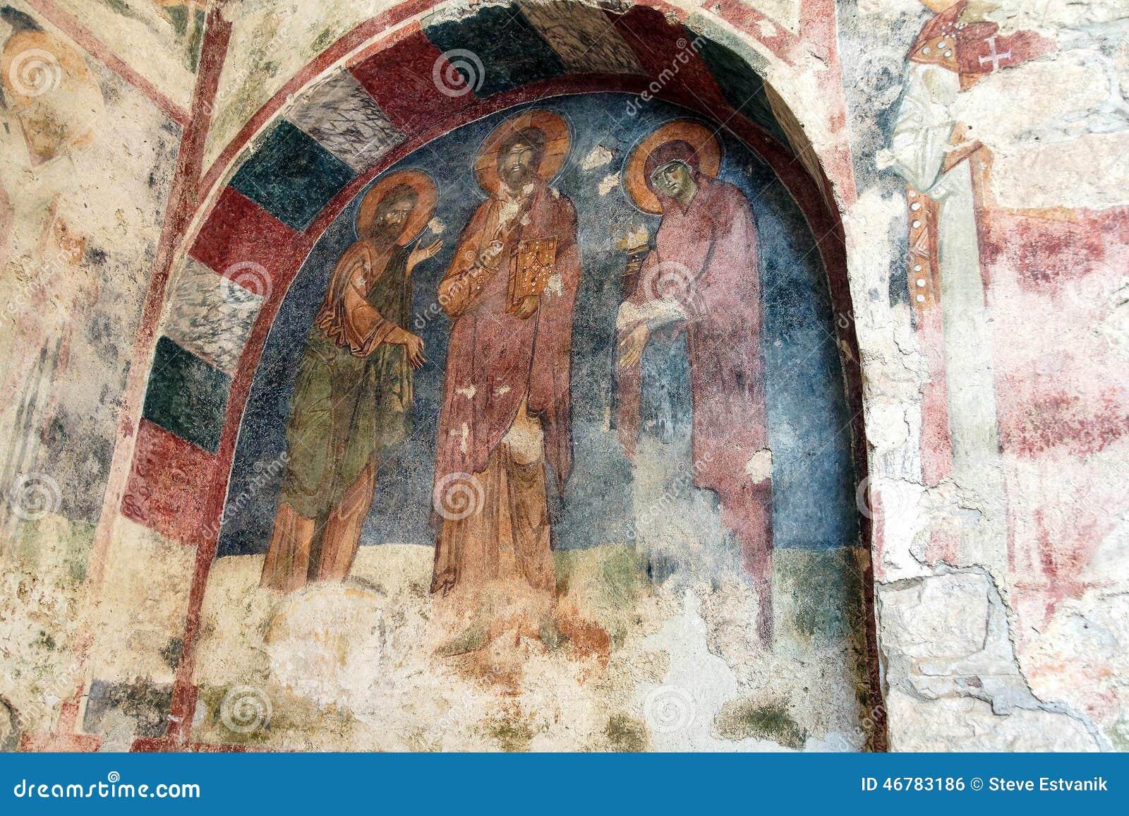 Fresques bizantins des saints
