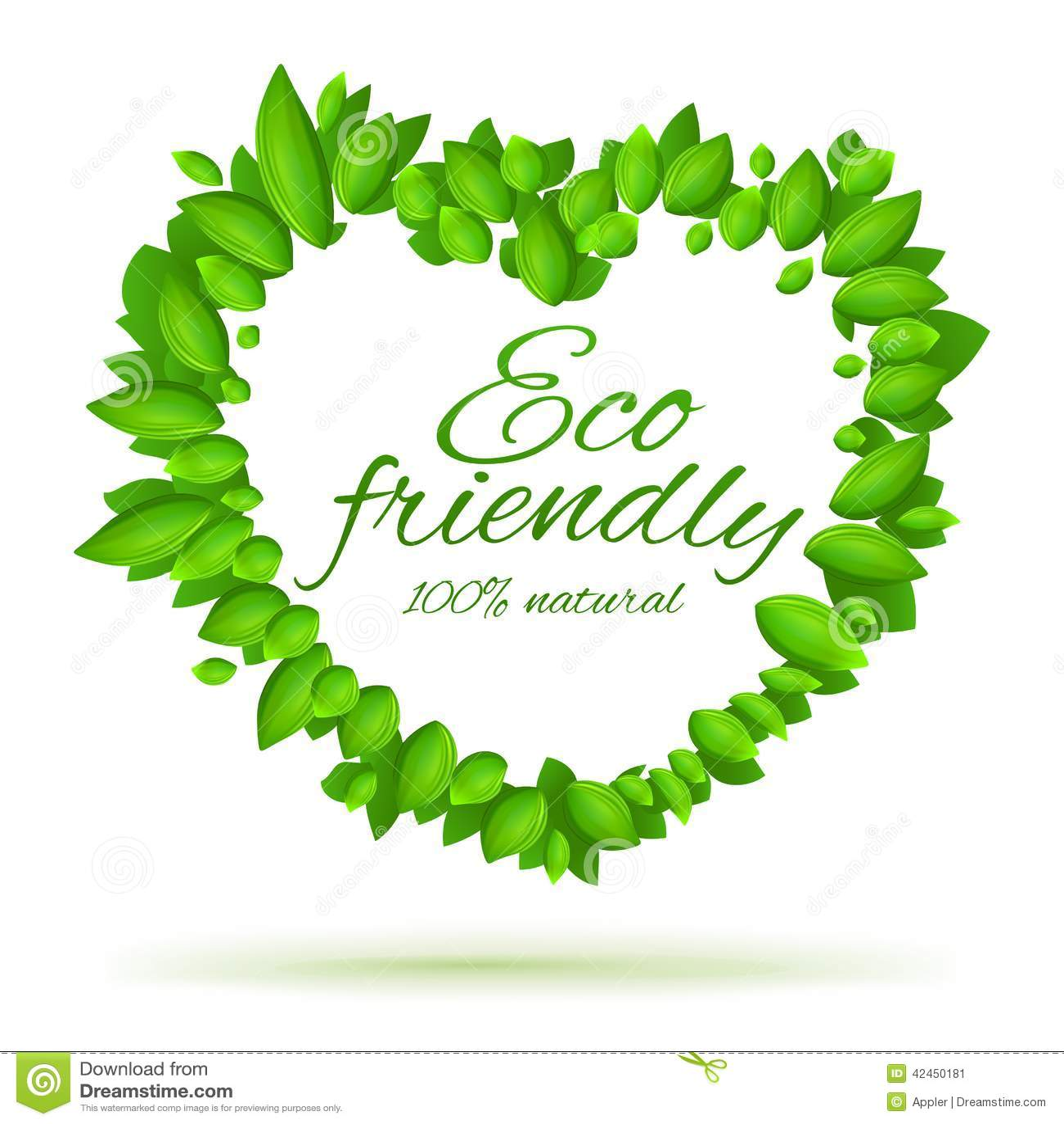 Freundlicher Aufkleber Eco mit Liebe
