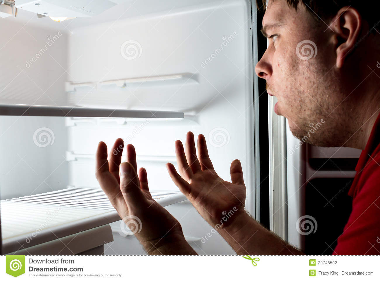 Man trying to find his next meal it 39 s gone stock for Food bar hands