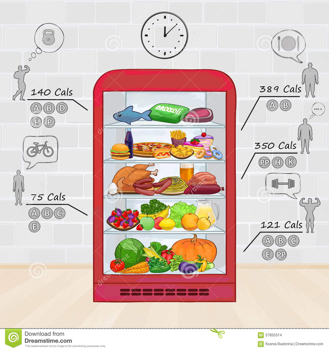 Where To Store Food In The Refrigerator Chart Download