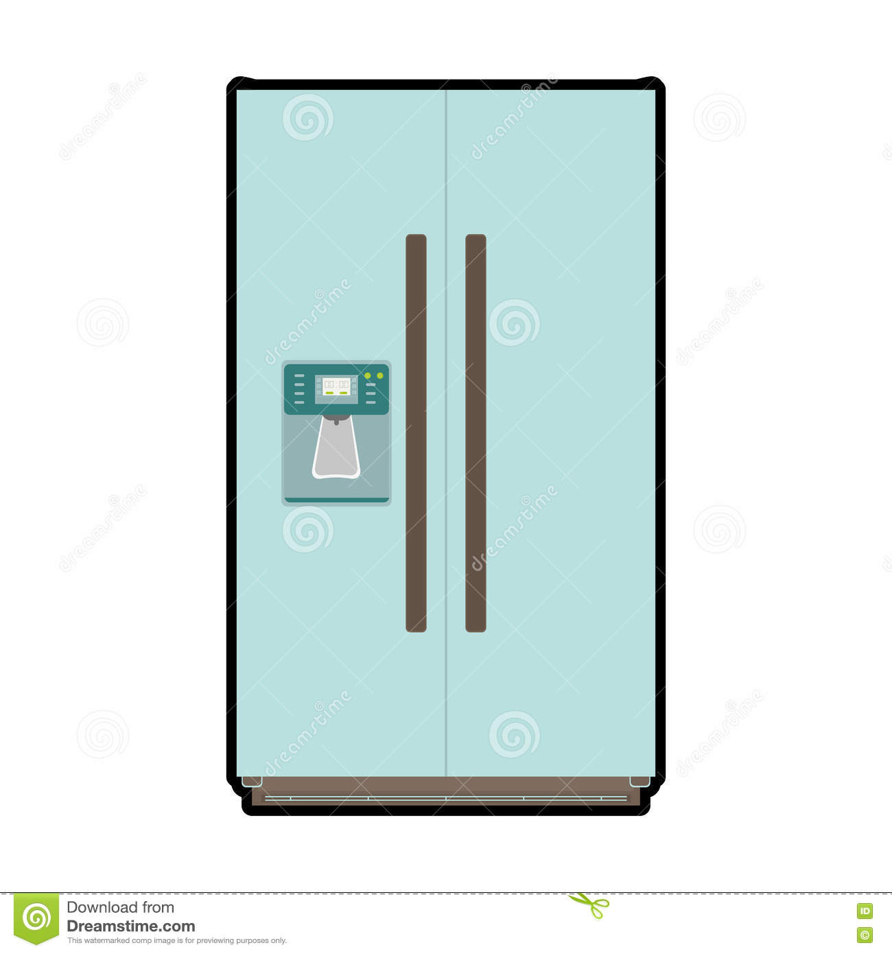 Fridge icon kitchen and cooking design vector graphic for Kitchen design vector