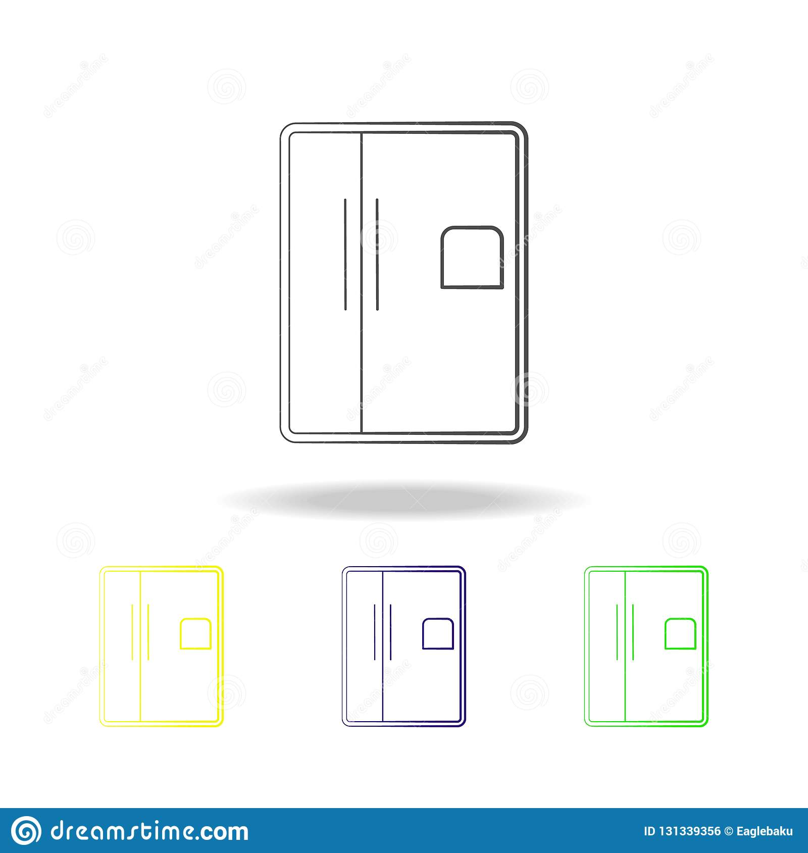 Fridge Multicolored Icons  Element Of Electrical Devices