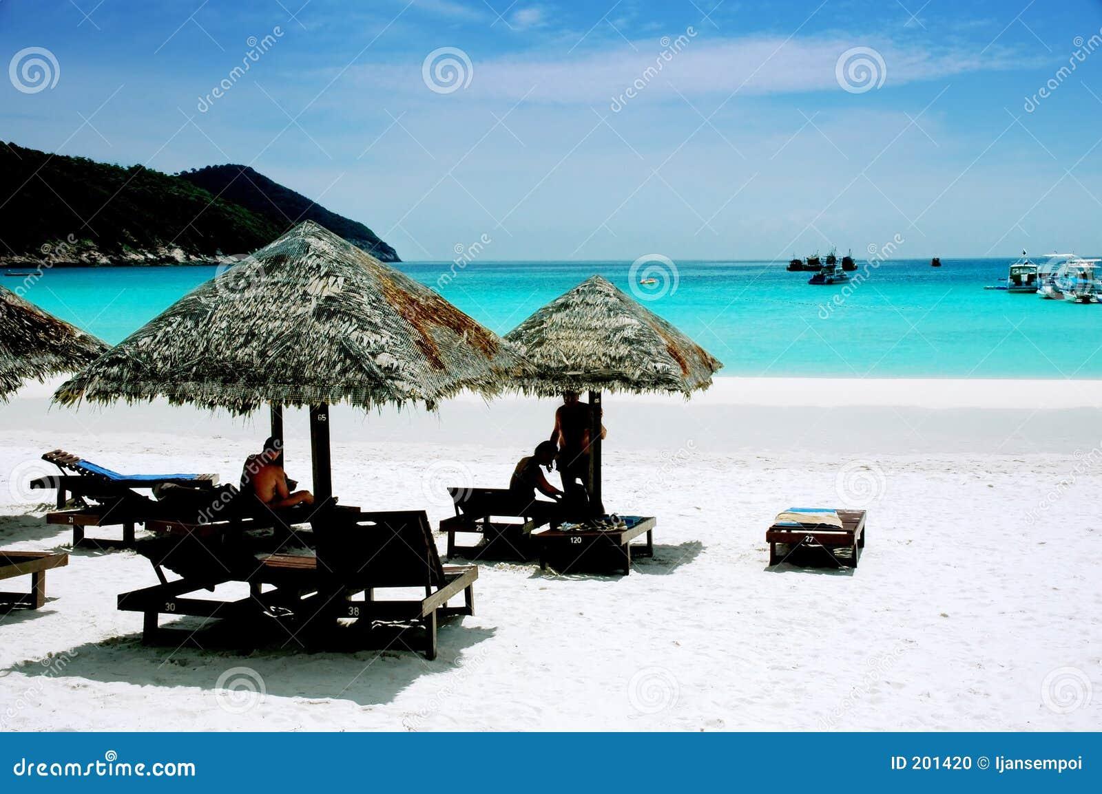 Fridsamt landskap för strand
