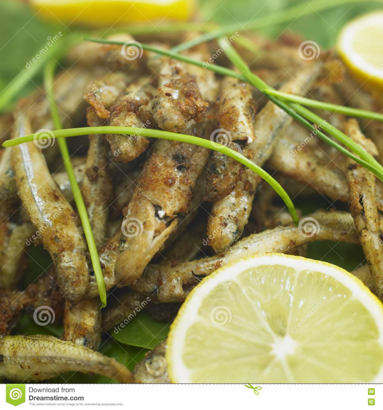 Fried Anchovies Royalty Free Stock Photos - Image: 17236588