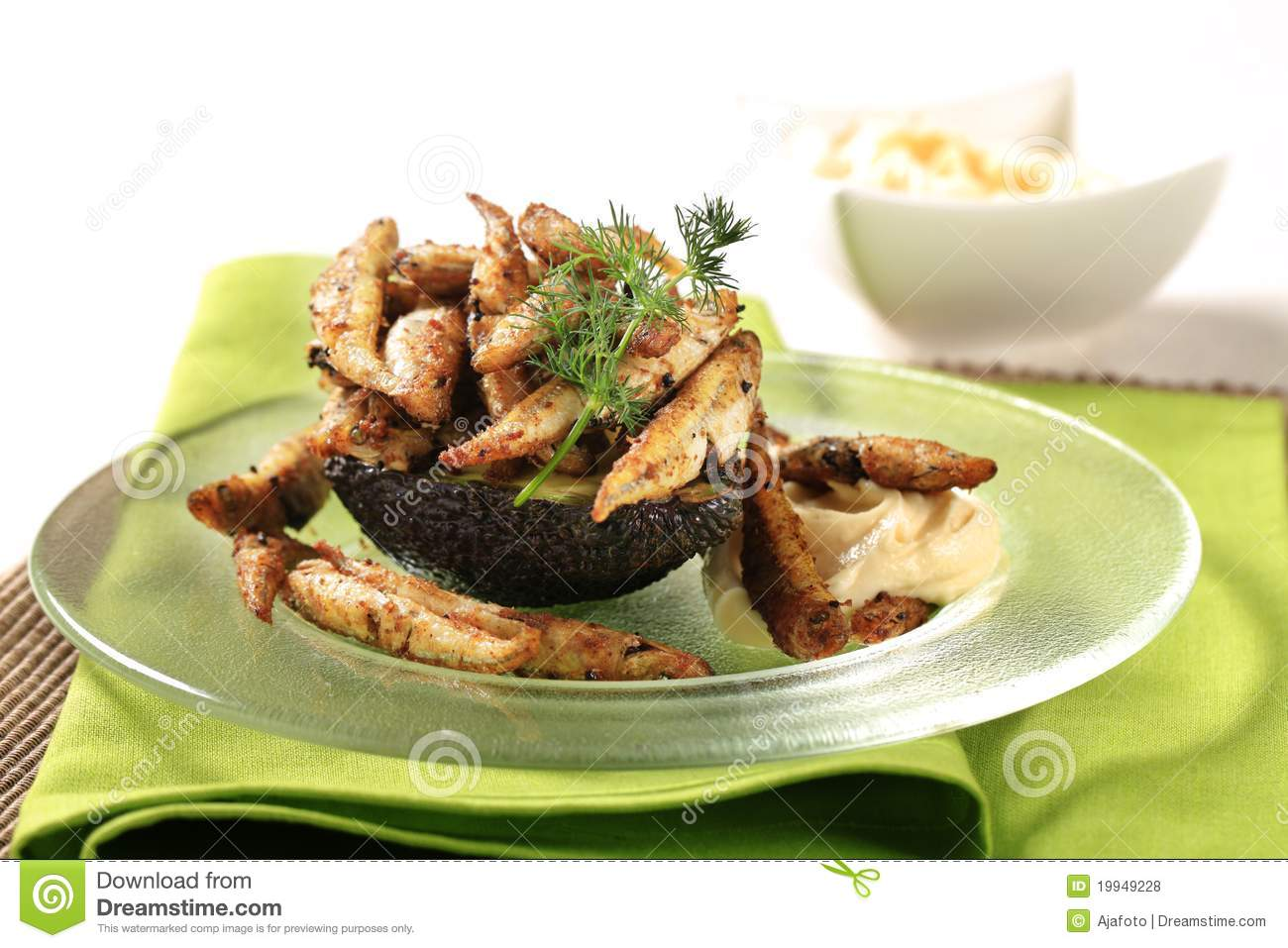 Fried Anchovies Royalty Free Stock Photos - Image: 19949228