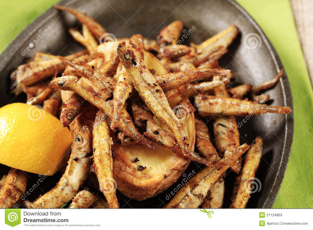 Fried Anchovies Stock Photos - Image: 21134863