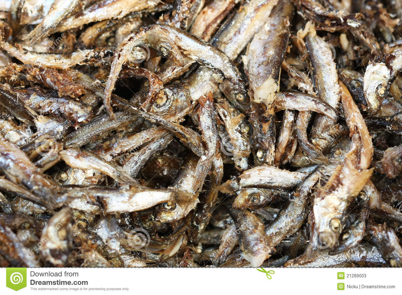 Fried Anchovies Stock Photos - Image: 21289003