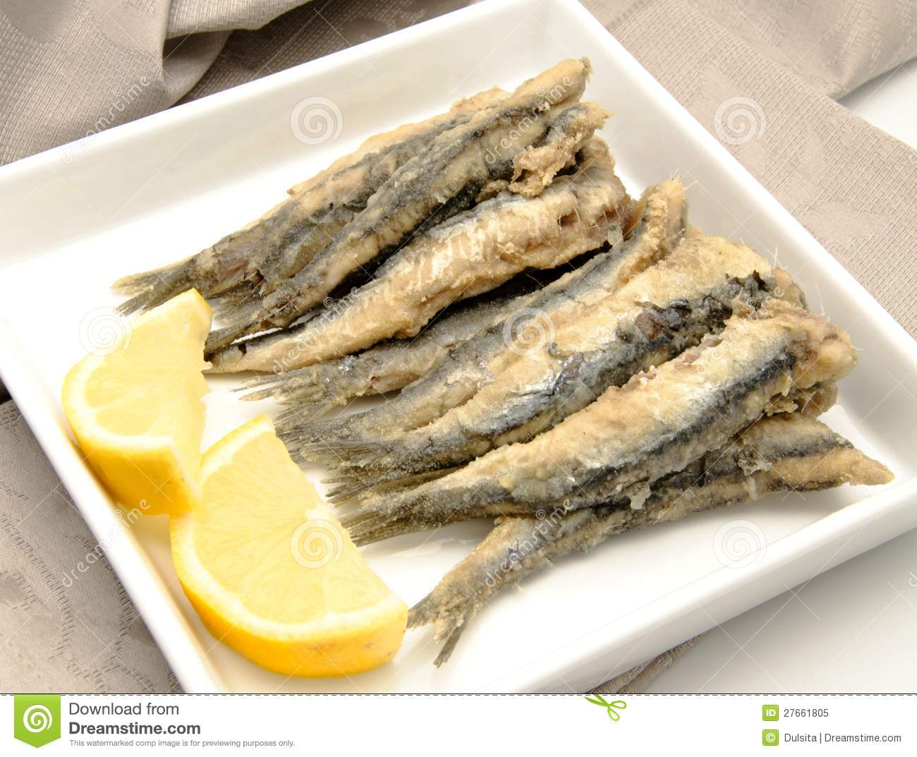 Fried Anchovies Royalty Free Stock Photo - Image: 27661805