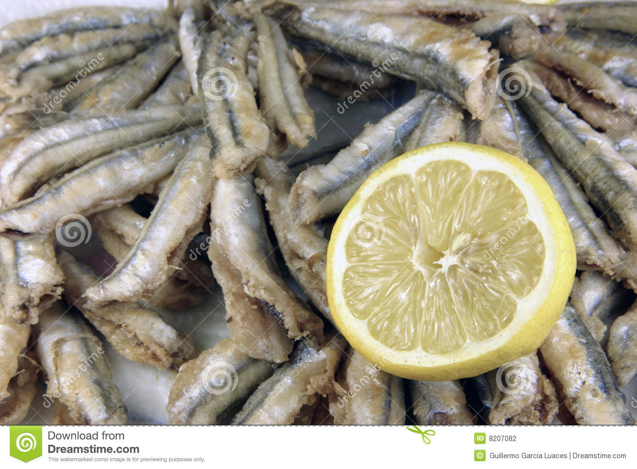 Fried Anchovies Stock Photography - Image: 8207082