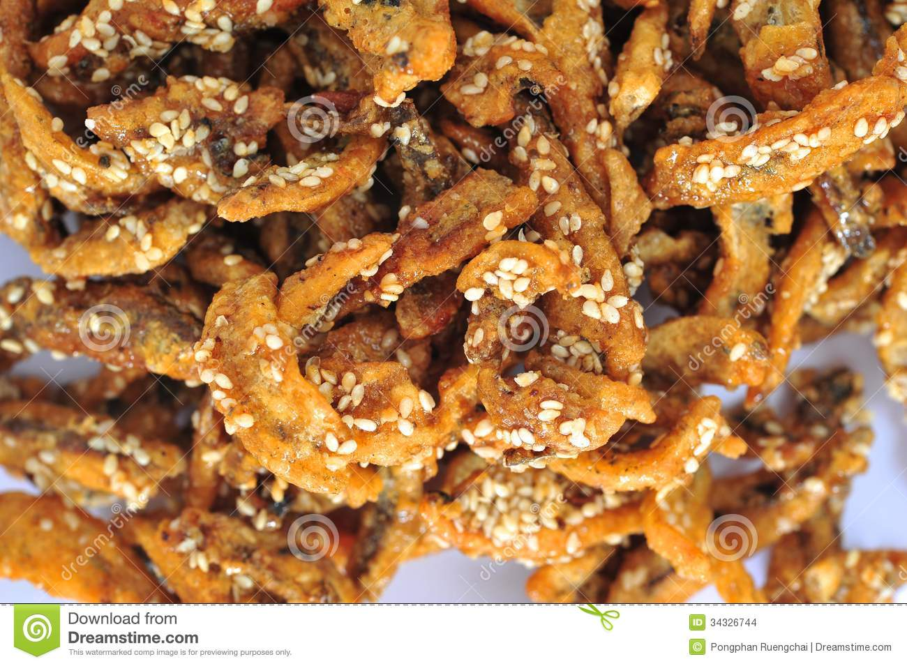 Fried Anchovies Stock Images - Image: 34326744