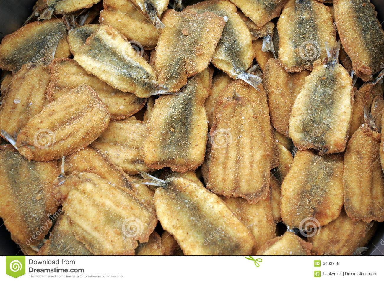 Fried Anchovy Royalty Free Stock Photos - Image: 5463948