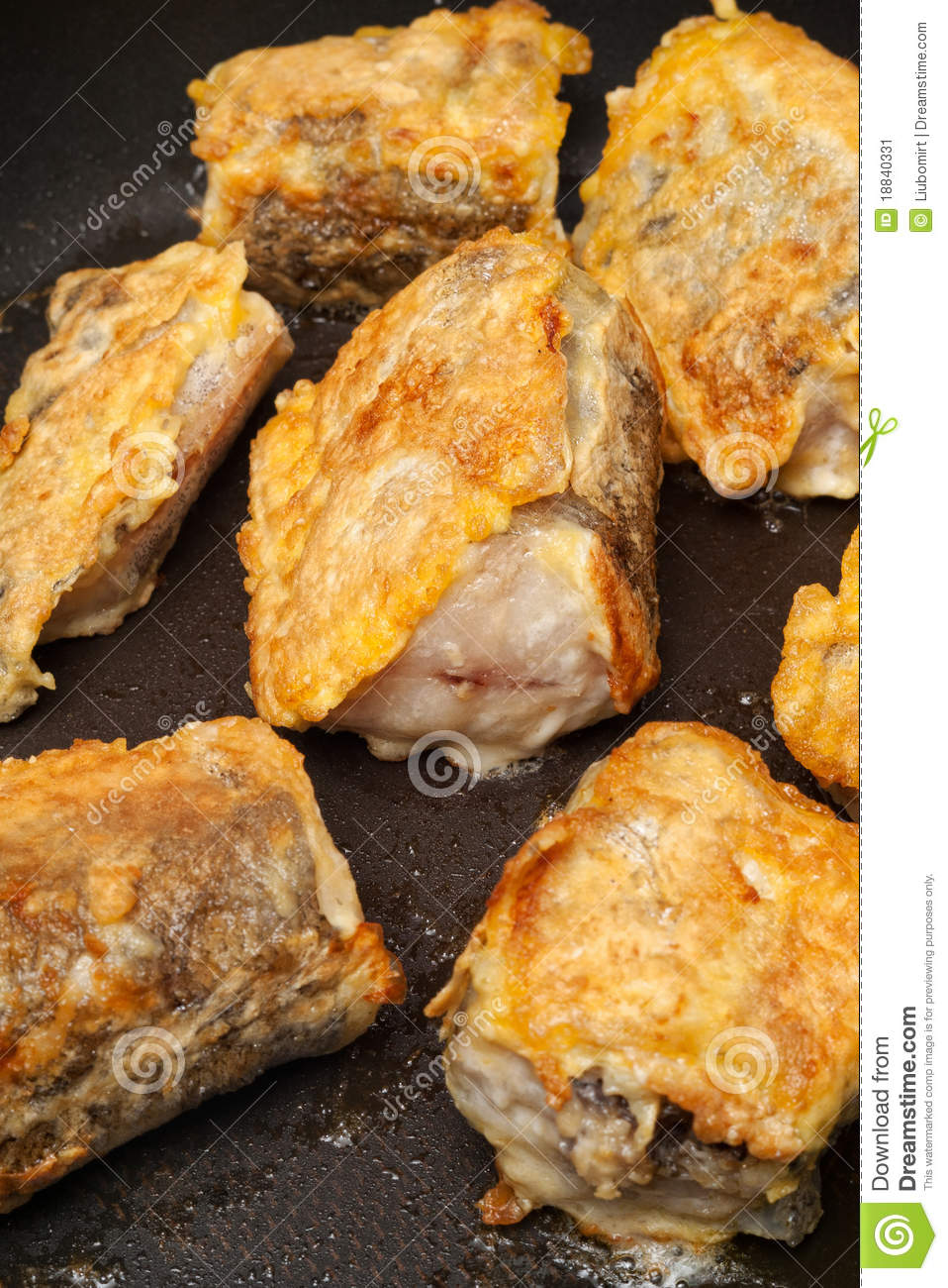 Fried battered fish stock image image 18840331 for How to fry fish with egg and flour