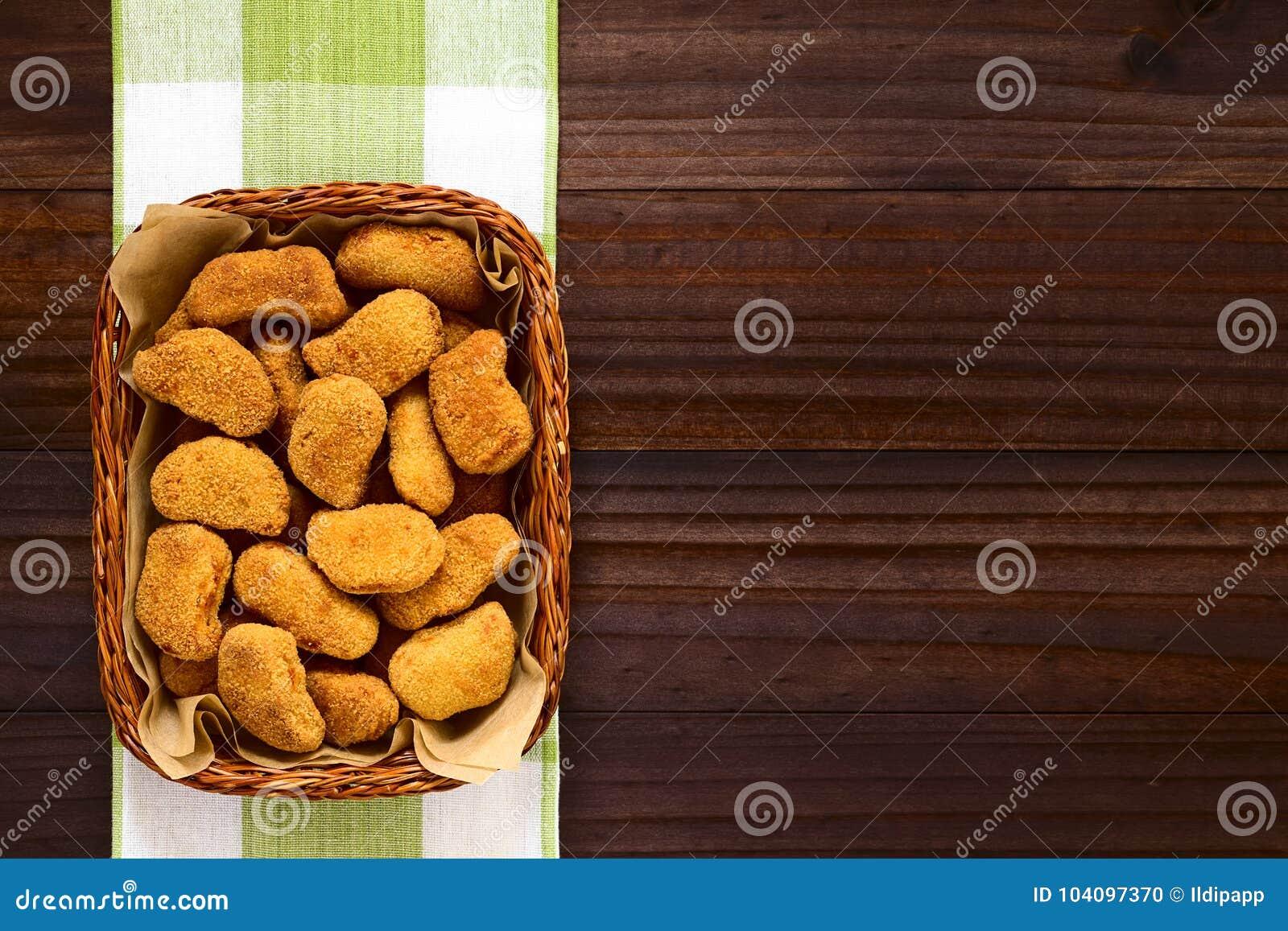 Fried Breaded Crispy Chicken Nuggets