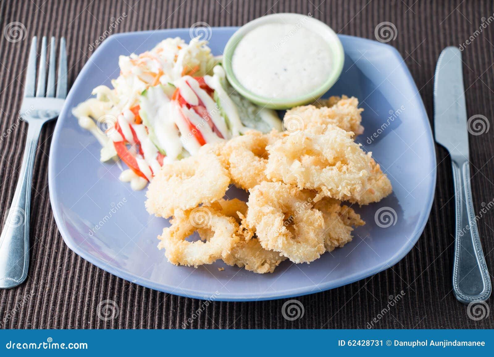 Fried Calamari Fried Squid Stock Photo Image 62428731