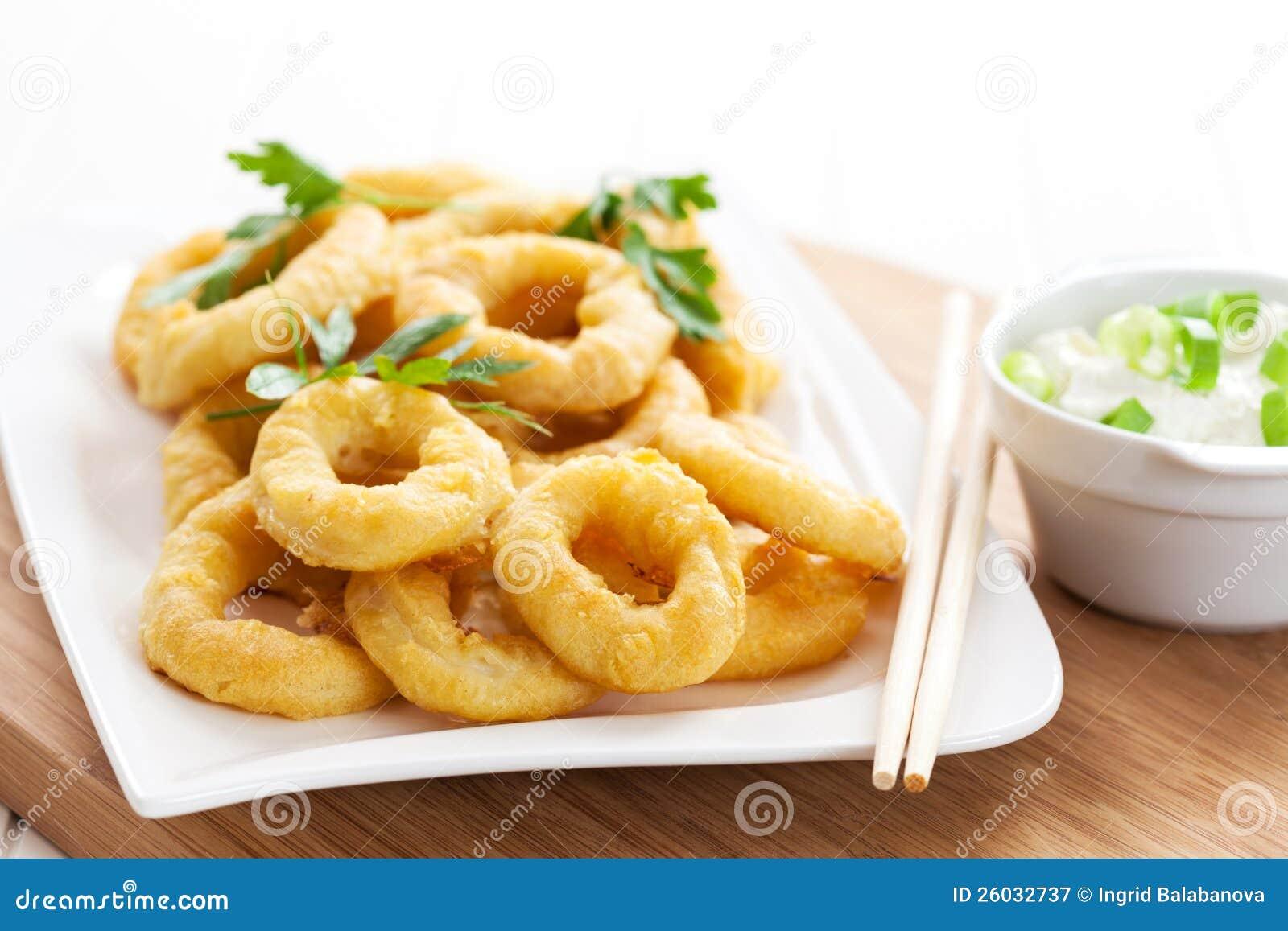 Fried Calamari Rings Royalty Free Stock Photography - Image: 26032737