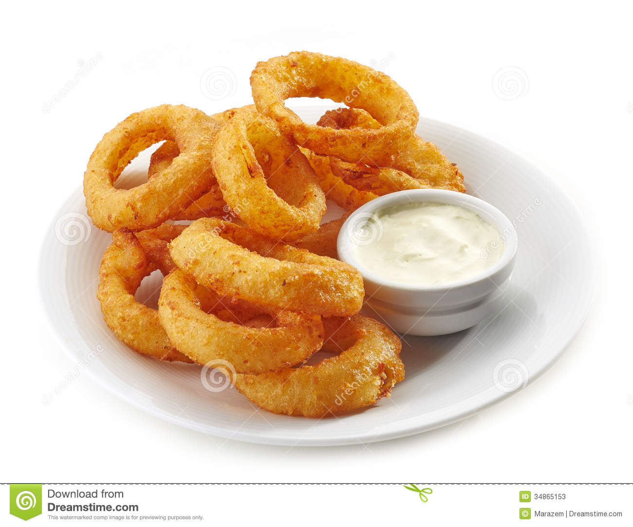 Fried Calamari Rings Stock Photos - Image: 34865153