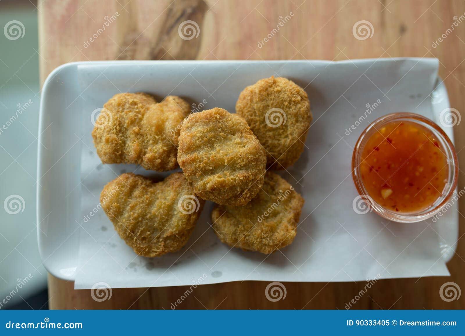 Fried chicken nuggets