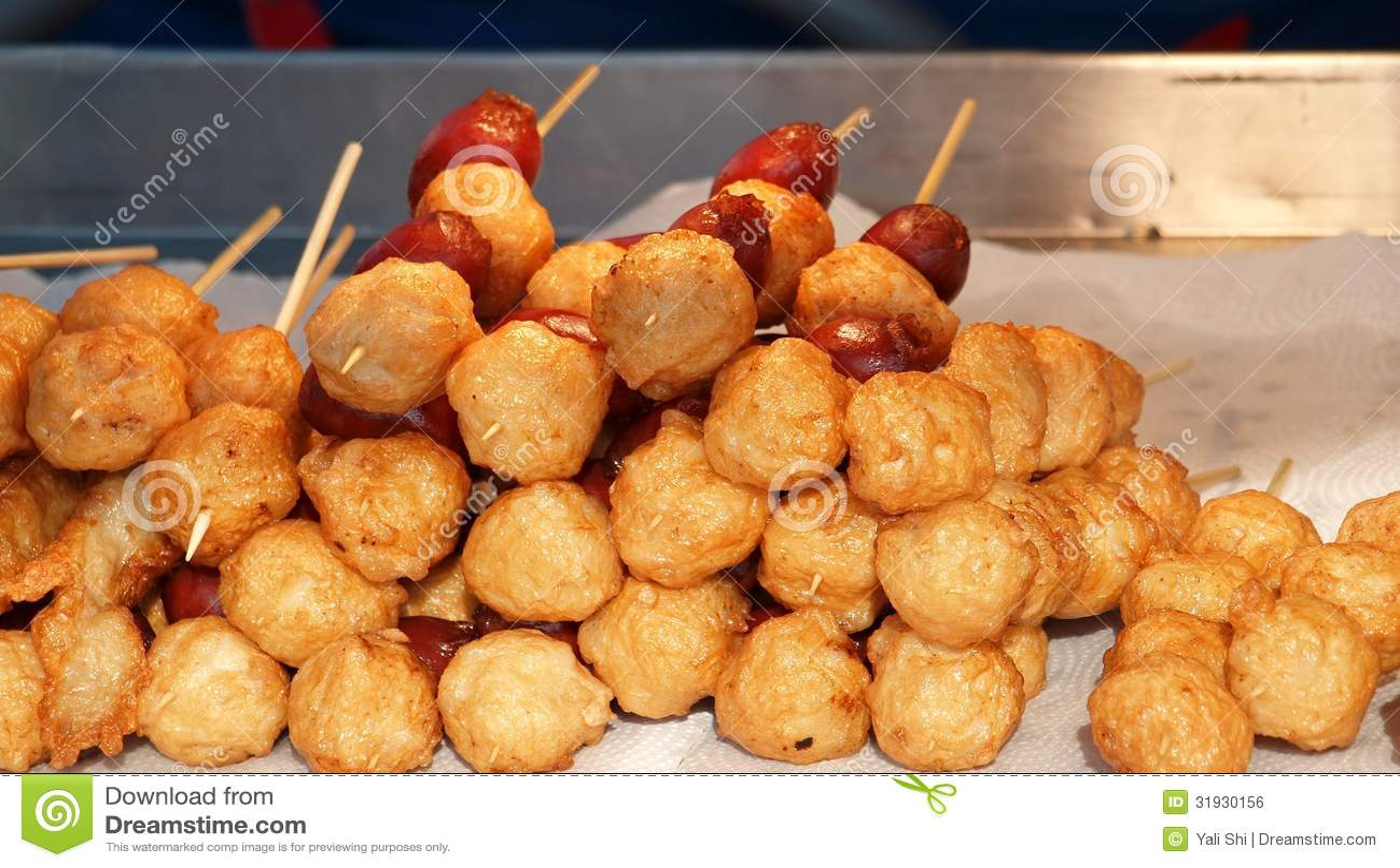 Fried chinese fish balls royalty free stock image image for Chinese fish balls