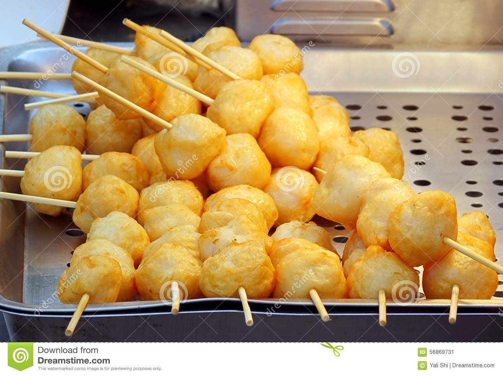 Fried chinese fish balls stock photo image 56869731 for Chinese fish balls