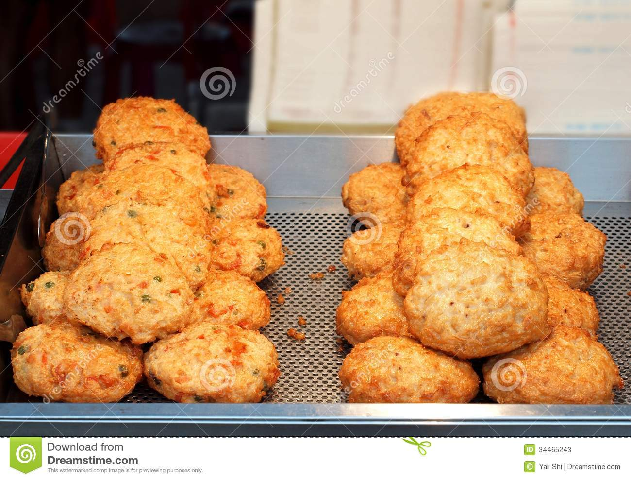 Fried chinese fish cakes stock photos image 34465243 for Chinese fish cake