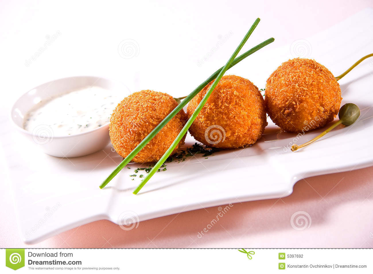 Fried crumbed scallops