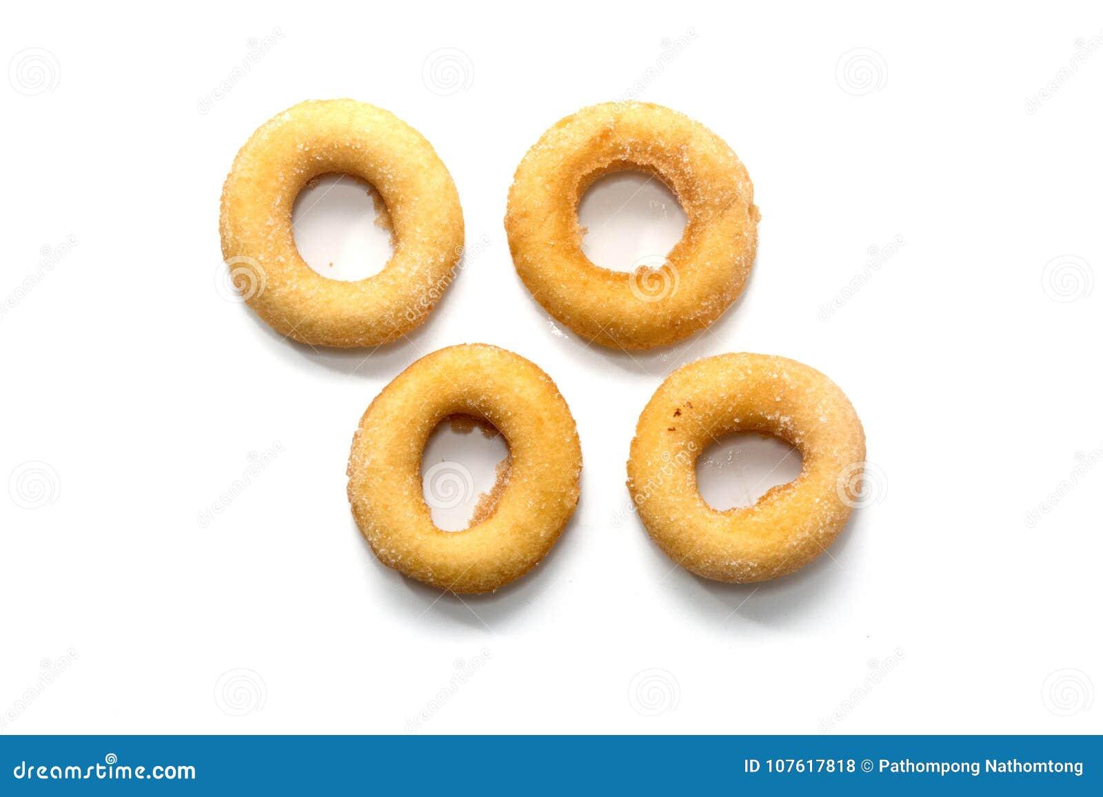 Fried Donuts com a cobertura do açúcar isolada