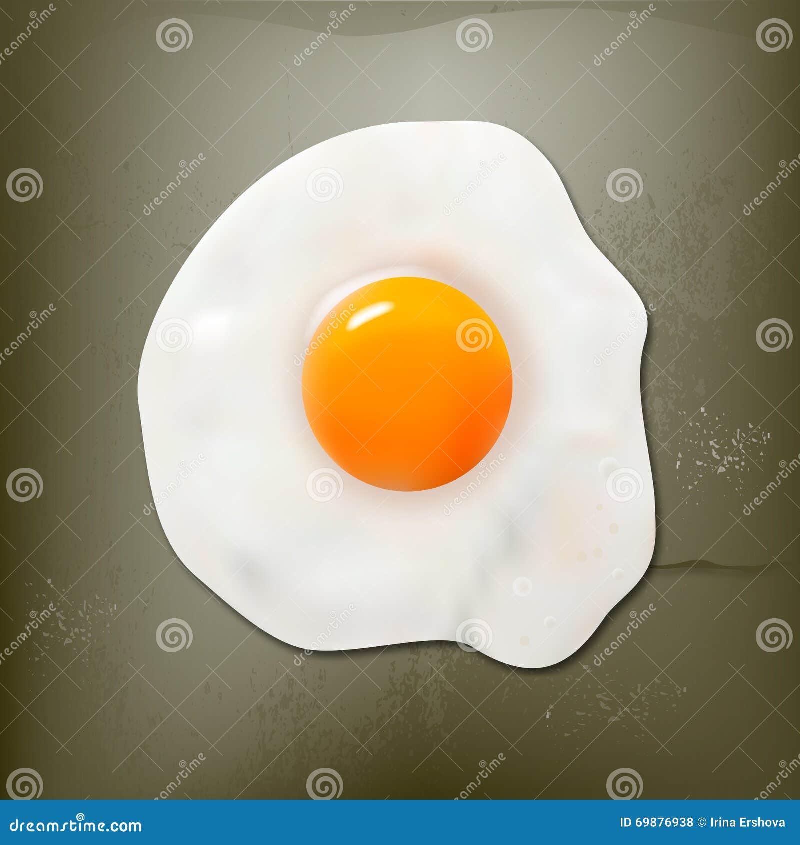 Fried egg on the beton